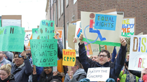 A disability rights protest in Ireland